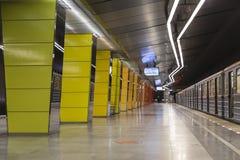 Εσωτερικό του σταθμού Zhulebino, Μόσχα μετρό της Μόσχας Στοκ εικόνα με δικαίωμα ελεύθερης χρήσης