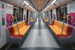 Εσωτερικό του στο κέντρο της πόλης MRT γραμμών τραίνου Στοκ εικόνα με δικαίωμα ελεύθερης χρήσης
