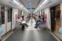 Εσωτερικό του στο κέντρο της πόλης MRT γραμμών τραίνου Στοκ φωτογραφία με δικαίωμα ελεύθερης χρήσης
