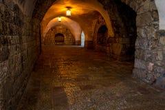 Εσωτερικό του τάφου του Δαβίδ ` s βασιλιάδων στην Ιερουσαλήμ, Ισραήλ Στοκ φωτογραφία με δικαίωμα ελεύθερης χρήσης