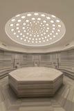Εσωτερικό του τουρκικού λουτρού hammam Στοκ Εικόνα