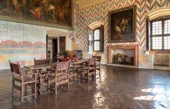 Εσωτερικό του φρουρίου Borromeo Angera ή Rocca Di Anger Είναι το Castle της λίμνης Maggiore σε Angera Στοκ εικόνες με δικαίωμα ελεύθερης χρήσης