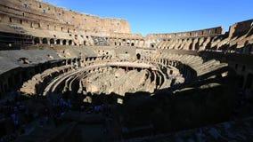 Εσωτερικό του coliseum στη Ρώμη απόθεμα βίντεο