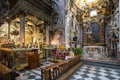 Εσωτερικό του della Santissima Annunziata βασιλικών στη Φλωρεντία Στοκ Φωτογραφίες
