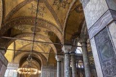Εσωτερικό του Hagia Sofia Aya Sophia στη Ιστανμπούλ, Τουρκία Στοκ φωτογραφία με δικαίωμα ελεύθερης χρήσης