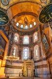 Εσωτερικό του Hagia Sophia στη Ιστανμπούλ, Τουρκία Στοκ Εικόνες