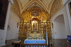 εσωτερικό του SAN Ildefonso Church, Τολέδο, Ισπανία Στοκ Εικόνες