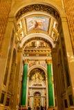 Εσωτερικό του ST Isaac Cathedral στοκ εικόνα