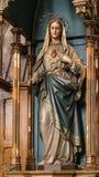 Εσωτερικό του ST Nicolas σε Cheb στην Τσεχία στοκ εικόνα