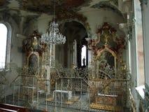 Εσωτερικό του ST Ulrich Church σε Kreuzlingen στοκ φωτογραφία