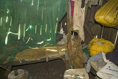 Εσωτερικό των τετάρτων ύπνου για τη Irene, το οποίο είναι μολυσμένο με το VIH/aids στο Λα Tumaini Jangwani, VIH/aids κοινοτικό Re στοκ φωτογραφία