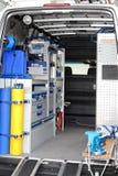 εσωτερικό φορτηγό βοηθήματος στοκ εικόνες