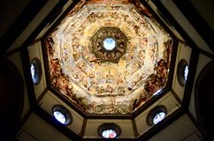 Εσωτερικό χρώμα τοίχων του καθεδρικού ναού της Φλωρεντίας Στοκ Φωτογραφίες