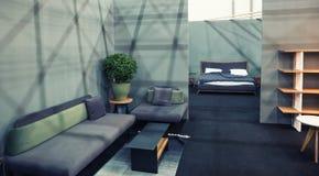 Εσωτερικό δωμάτιο διακοσμήσεων σχεδίου, στούντιο ντεκόρ Στοκ εικόνα με δικαίωμα ελεύθερης χρήσης