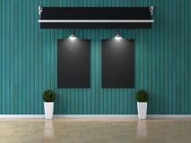 Εσωτερικό δωμάτιο με την εικόνα Στοκ Εικόνα