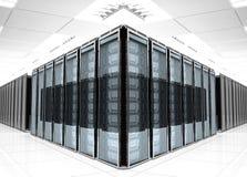 Εσωτερικό δωματίων κεντρικών υπολογιστών Στοκ φωτογραφία με δικαίωμα ελεύθερης χρήσης
