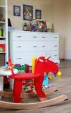 Εσωτερικό δωματίων παιδιών με τα παιχνίδια Στοκ Εικόνες