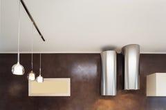 Εσωτερικό, δύο κουκούλες κουζινών Στοκ Εικόνες