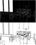 εσωτερικό διάνυσμα δωμα&t Στοκ εικόνα με δικαίωμα ελεύθερης χρήσης