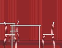εσωτερικό 2 καφέδων διανυσματική απεικόνιση