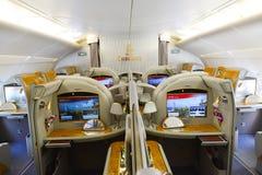 Εσωτερικό airbus εμιράτων A380 στοκ εικόνες με δικαίωμα ελεύθερης χρήσης