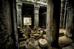 Εσωτερικό Angkor Thom Στοκ Εικόνες