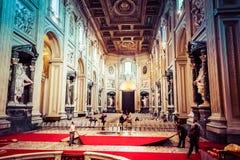 Εσωτερικό Archbasilica του ST John Lateran στη Ρώμη Στοκ εικόνα με δικαίωμα ελεύθερης χρήσης