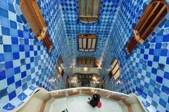 Εσωτερικό Casa Batllo στοκ εικόνες