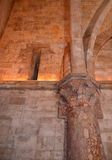 Εσωτερικό Castel del Monte, Apulia, Ιταλία Στοκ Φωτογραφίες