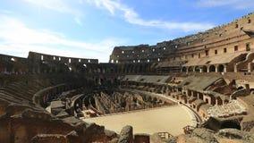Εσωτερικό coliseum της Ρώμης απόθεμα βίντεο