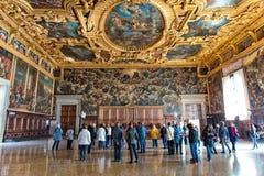 Εσωτερικό Doge του παλατιού στη Βενετία, Ιταλία Στοκ φωτογραφίες με δικαίωμα ελεύθερης χρήσης