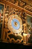 Εσωτερικό Doge ` s του παλατιού - τοίχος με το ρολόι Στοκ φωτογραφία με δικαίωμα ελεύθερης χρήσης