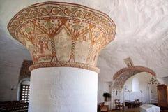 Εσωτερικό Hasle Nykirke Bornholm στοκ εικόνες