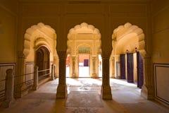Εσωτερικό Hawa Mahal, Jaipur, Ινδία Στοκ εικόνα με δικαίωμα ελεύθερης χρήσης