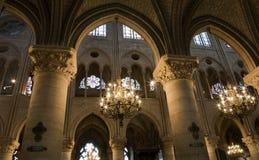 εσωτερικό notre Παρίσι κυρία&sigmaf Στοκ φωτογραφία με δικαίωμα ελεύθερης χρήσης