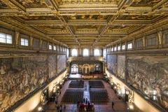 Εσωτερικό Palazzo Vecchio, Φλωρεντία, Ιταλία στοκ φωτογραφία με δικαίωμα ελεύθερης χρήσης