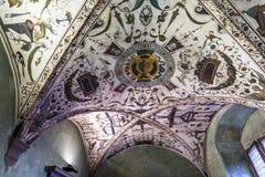 Εσωτερικό Palazzo Vecchio, Φλωρεντία, Ιταλία Στοκ εικόνες με δικαίωμα ελεύθερης χρήσης