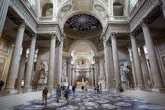 Εσωτερικό Pantheon με τους ανθρώπους στο Παρίσι Στοκ Φωτογραφίες