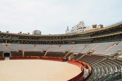 Εσωτερικό Plaza del Toros, ένας χώρος ταυρομαχίας Στοκ Φωτογραφίες