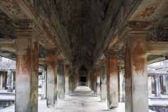 εσωτερικό wat angkor Στοκ Εικόνες