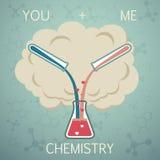 Εσύ και αυτό είναι χημεία Χημεία της αγάπης διανυσματική απεικόνιση