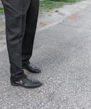 Εσώρουχα και παπούτσια ατόμων Πόδια των επιχειρηματιών Στοκ φωτογραφία με δικαίωμα ελεύθερης χρήσης
