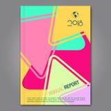 Ετήσια έκθεση Κάλυψη επιχειρησιακών φυλλάδιων διανυσματική απεικόνιση
