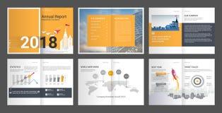 Ετήσια έκθεση, σχεδιάγραμμα επιχείρησης, φυλλάδιο αντιπροσωπείας, για πολλές χρήσεις πρότυπο παρουσίασης διανυσματική απεικόνιση
