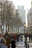 ετήσια αγορά Χριστουγένν&o Στοκ Εικόνες