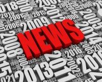 Ετήσια γεγονότα ειδήσεων Διανυσματική απεικόνιση