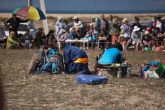 Ετήσια διεθνής συλλογή των σαμάνων στη λίμνη Baikal, νησί Olkhon Στοκ Φωτογραφία