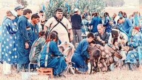 Ετήσια διεθνής συλλογή των σαμάνων στη λίμνη Baikal, νησί Olkhon Στοκ εικόνα με δικαίωμα ελεύθερης χρήσης
