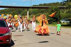 Ετήσια κάθε παρέλαση ημέρας childs στην πόλη Solleftea στη Σουηδία Στοκ Εικόνα