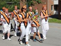 Ετήσια κάθε παρέλαση ημέρας childs στην πόλη Solleftea στη Σουηδία Στοκ Εικόνες